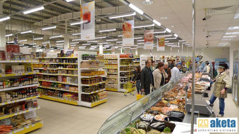 Dionis PC , supermarketas baltarusija, dizaineris Tomas Budinas, Apšvietimas AKETA.
