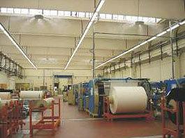 Dirbtinio rūko sistemų naudojimas popieriaus pramonėje.