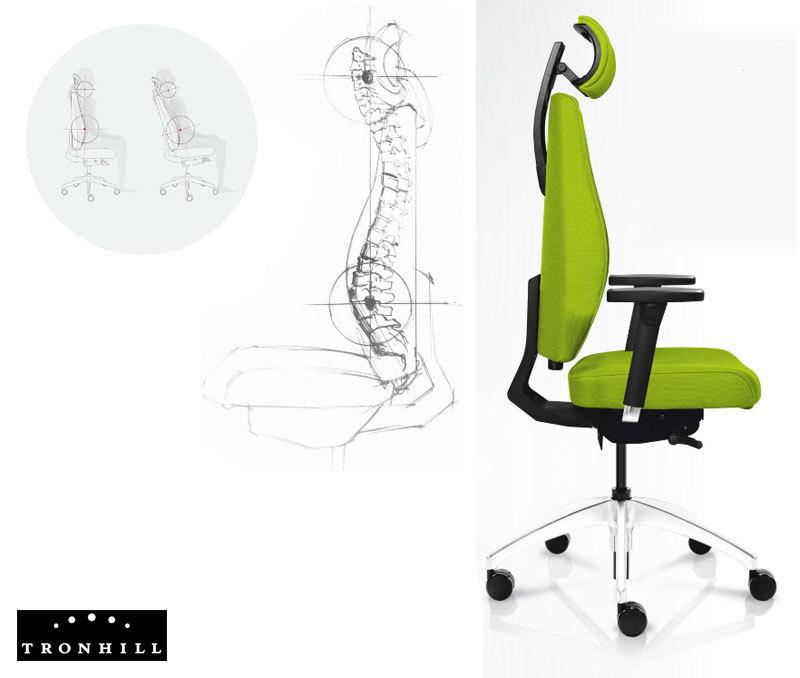 Dizaino ir ergonomikos sintezė Magna kolekcijos biuro kėdėse