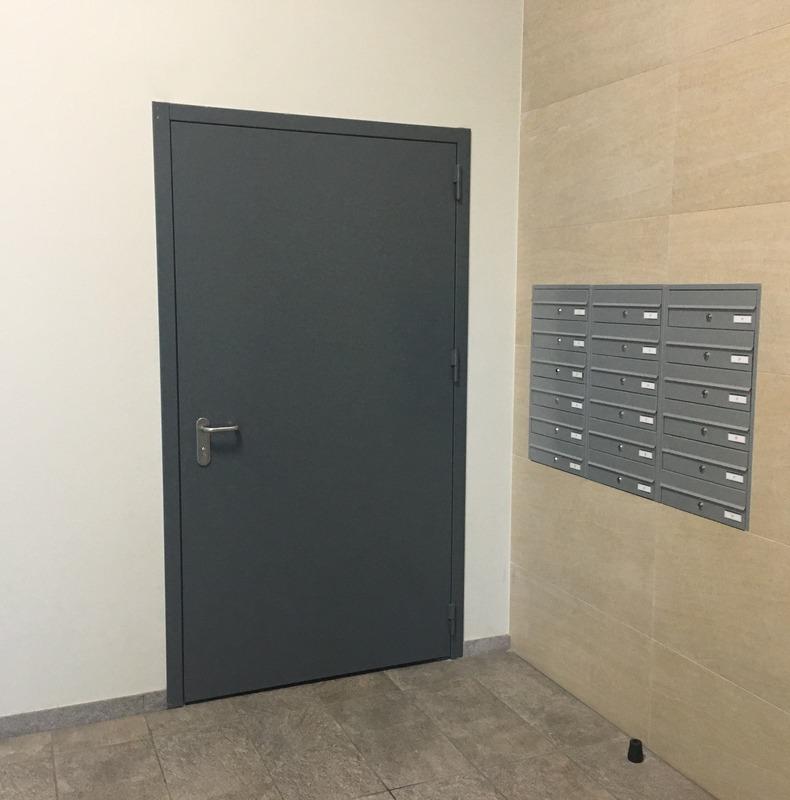 Priešgaisrinės katilinės durys