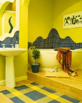 geltonas vonios kambarys
