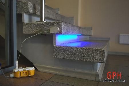 Laiptų apšvietimas diodiniu apšvietimu