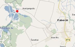 Žemėlapis Paberžė