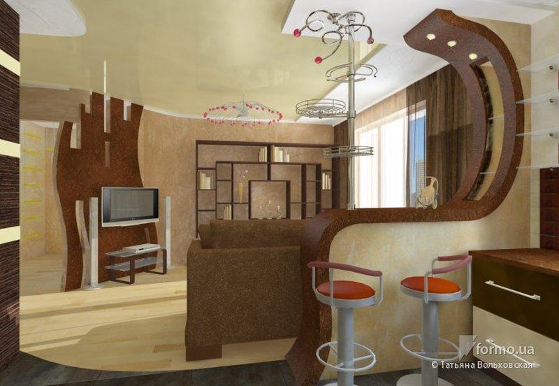 Дизайн комнат с барной стойкой