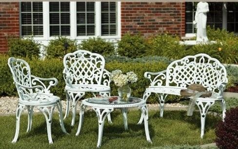 Asa lt sodo ir parko baldai White metal outdoor furniture