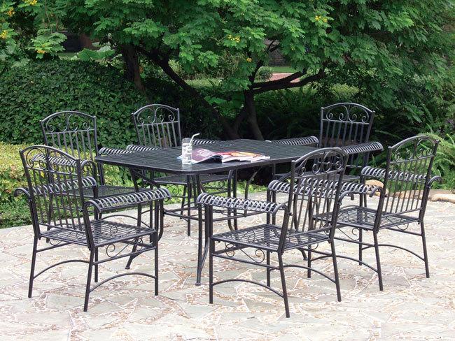 Asa lt sodo ir parko baldai - Tavolo in ferro battuto da giardino ...